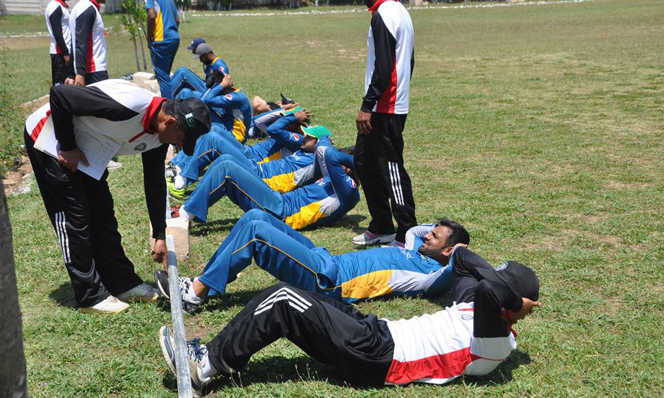 Cricketers given fitness training the military way at PMA Kakul ...