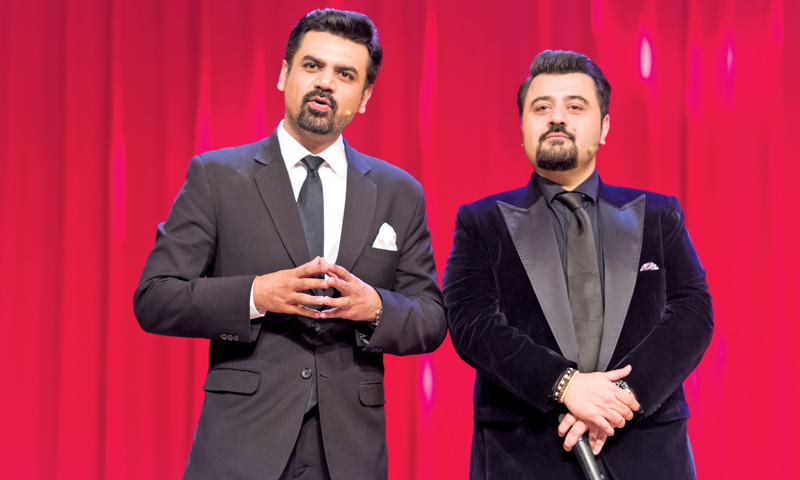 Hosts Ahmad Ali Butt and Vasay Chaudhry