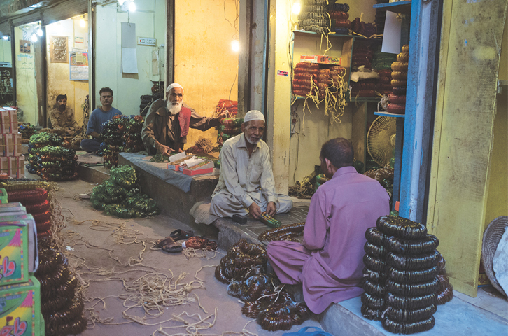 Choori Bazaar in Hyderabad is famous for the bangles it churns out. Here, men are busy separating them by colour and design, and packing them in boxes that will later be distributed across the city as well as the country.