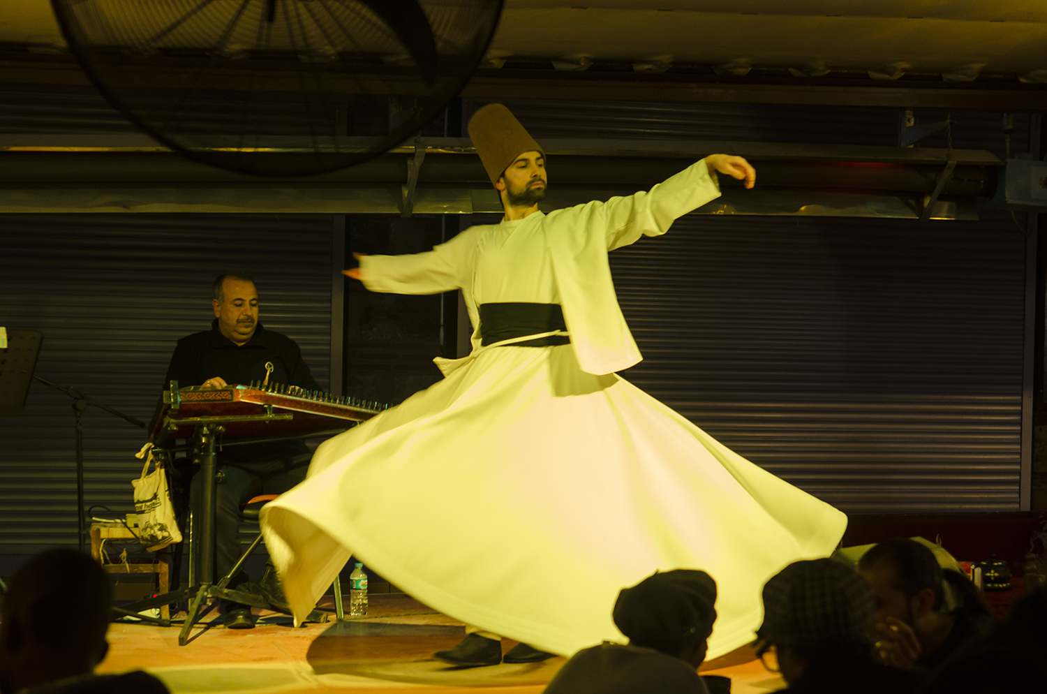 A dervish whirling on Sufi tunes.