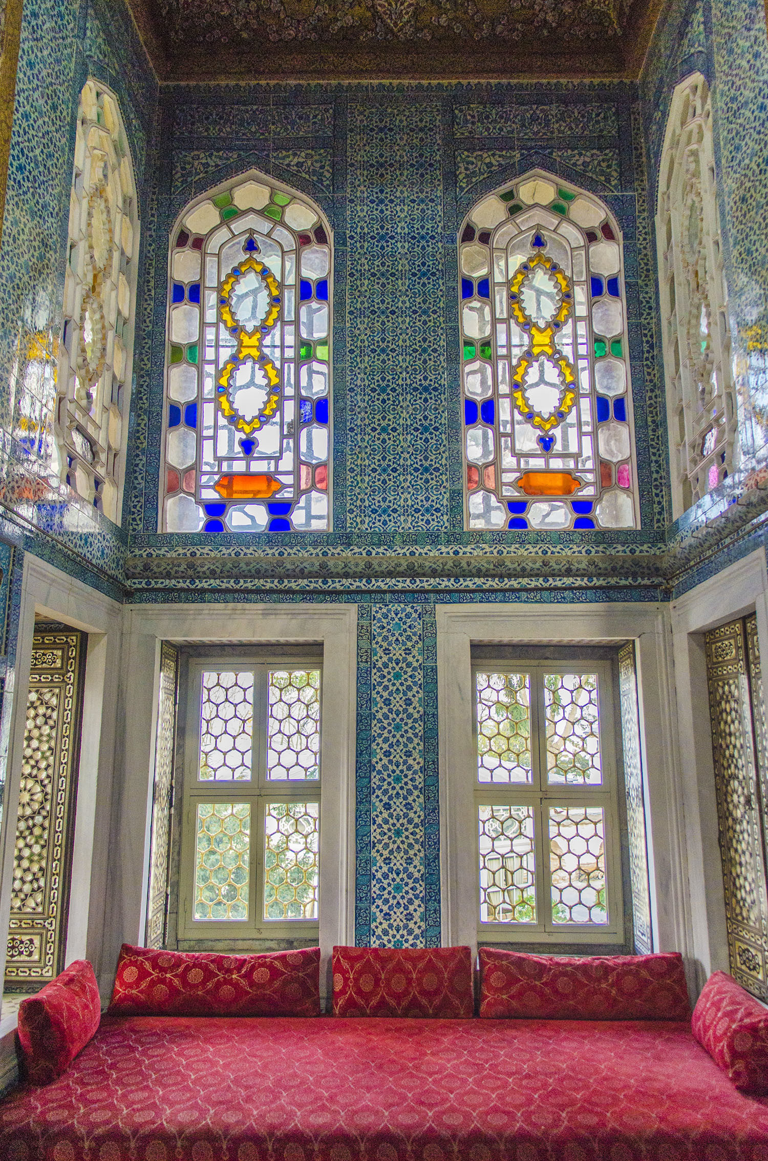 The sitting room of Ottoman royals in Topkapi Palace.