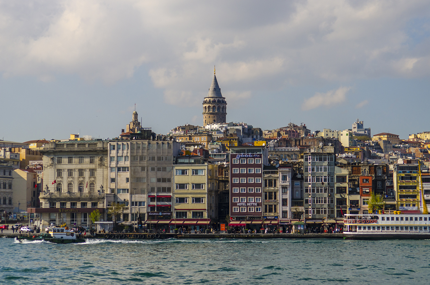 Galata Tower rising above the city as seen from the Golden Horn.