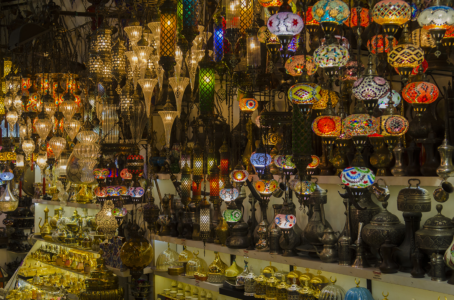 Traditional Turkish lamps.