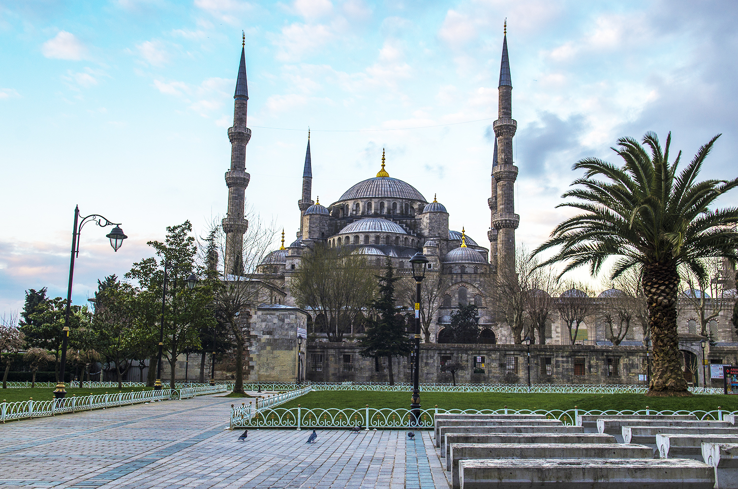 The Blue Mosque in the evening.