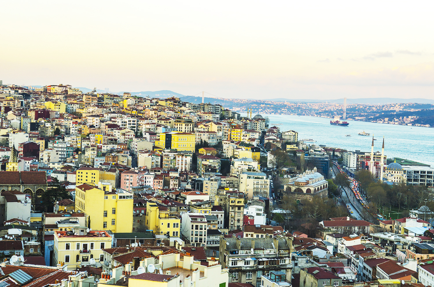 An aerial view of Istanbul from Galata Tower.
