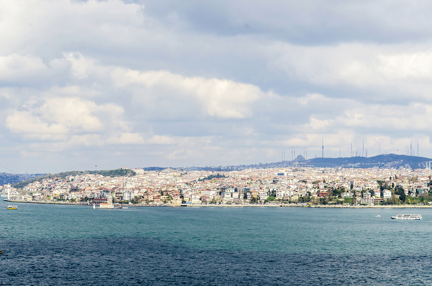 A view of the Bosphorus as seen from the Harem.