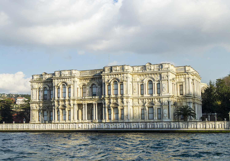 Beylerbeyi Palace taken from the Bosphorus.