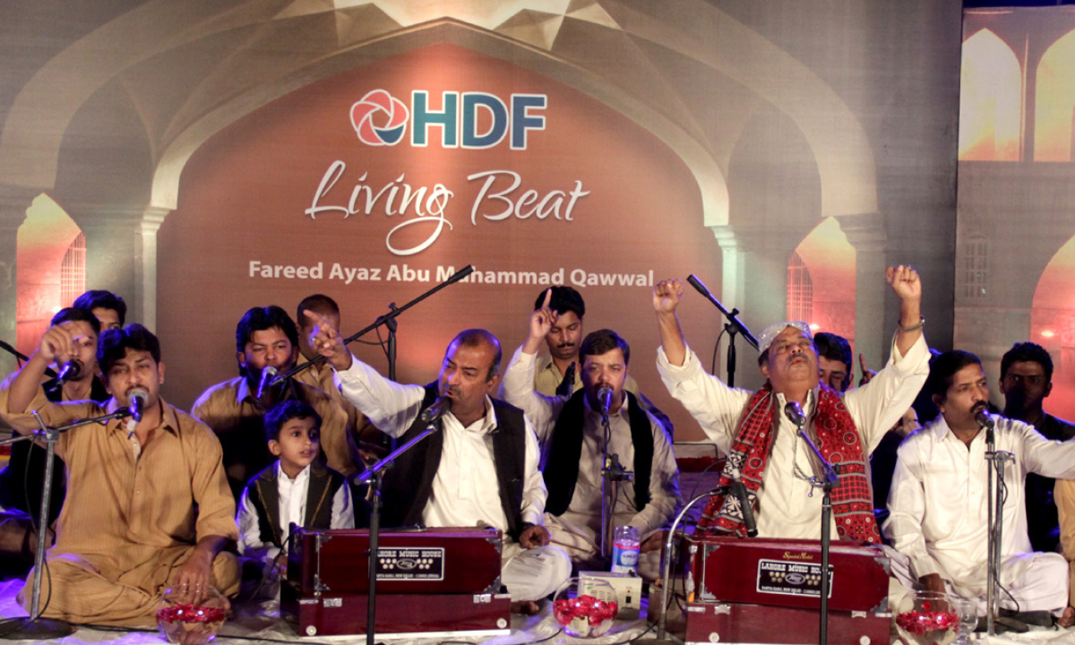 Fareed Ayaz and Abu Muhammad Qawwal perfom at a fundraiser |Hussain Afzal, White Star