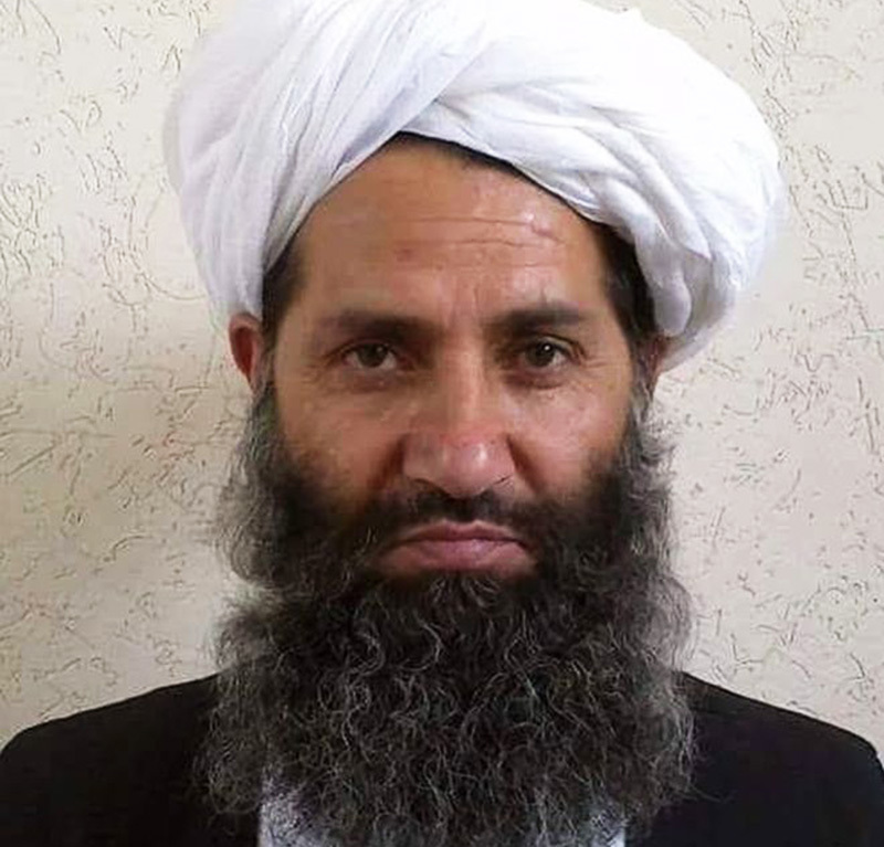 This undated handout photograph released by the Afghan Taliban on May 25, 2016 shows, according to the Afghan Taliban, the new Mullah Haibatullah Akhundzada posing for a photograph at an undisclosed location. —AFP