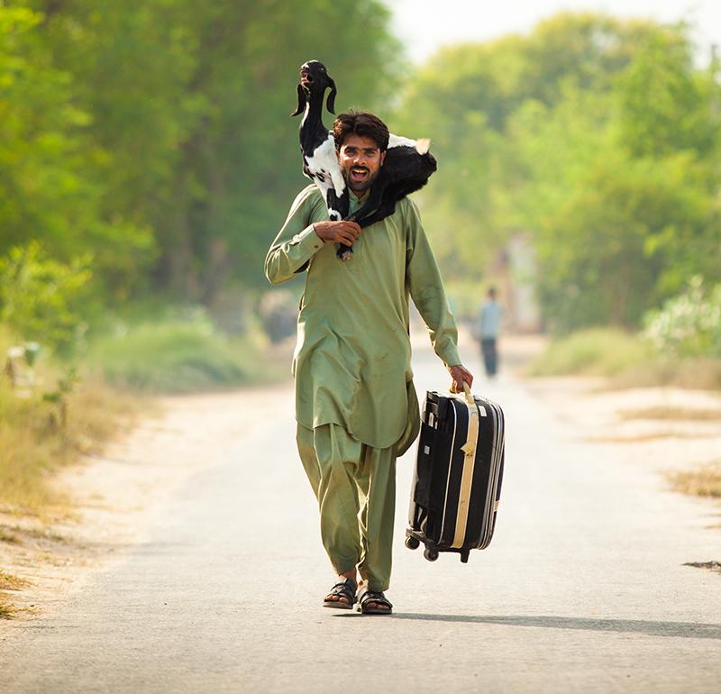 شریف کو امید ہے کہ وہ قرضہ ادا کرنے اور گاؤں والوں کو گاڑی خرید کر دینے میں کامیاب ہوگا. — تصویر سید اویس علی۔