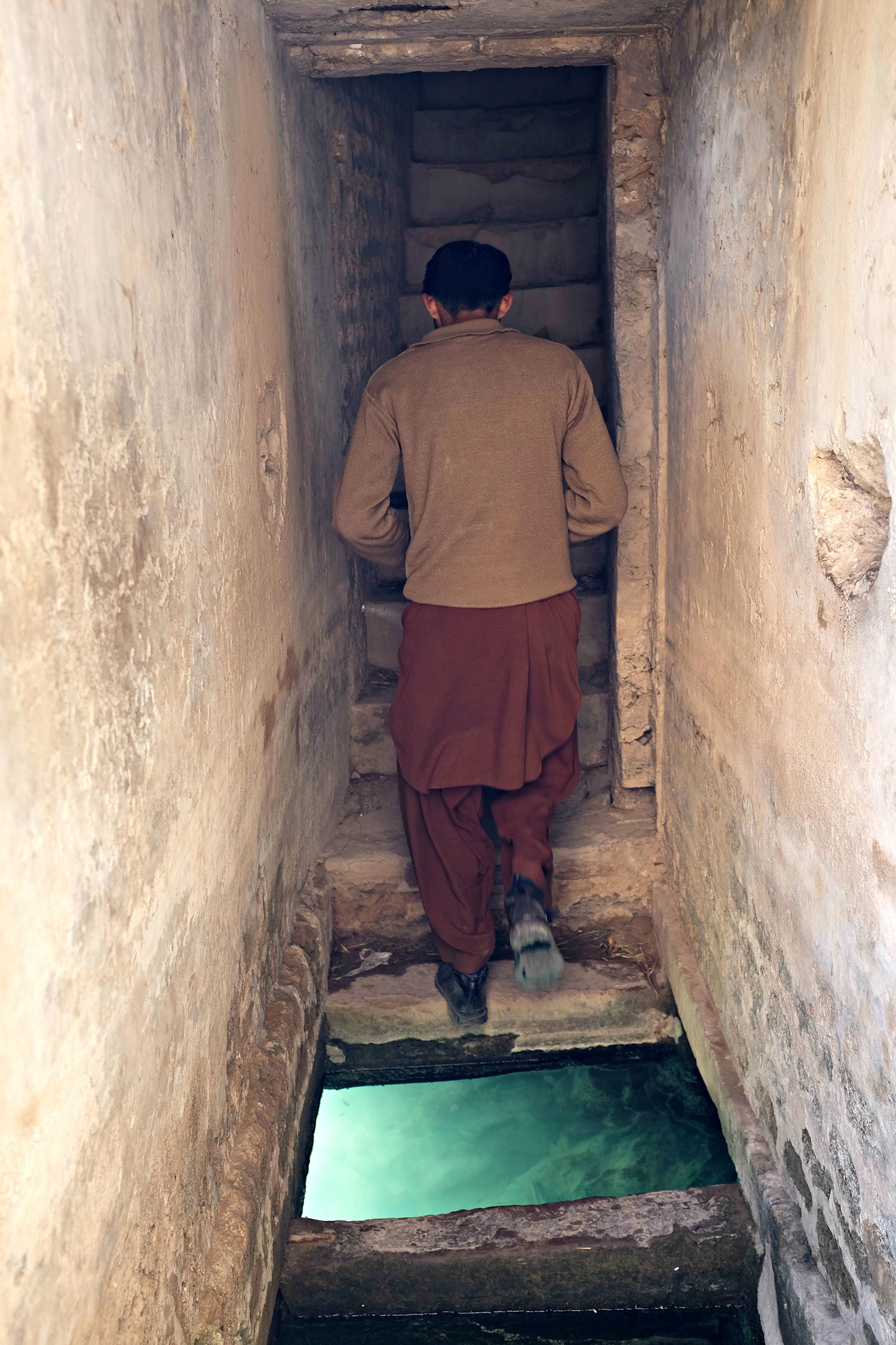 A guide takes me to a corner on ground level where women used to bathe in isolation.