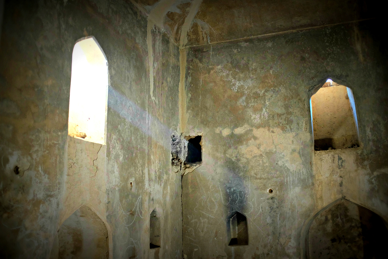 Temples were vandalised and frescoes scratched away and now they are far from their former glory.