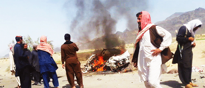 The site of the Balochistan drone strike. ─ AFP/File