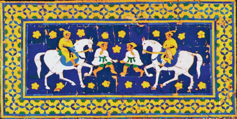 Mughal horsemen and foot soldiers
