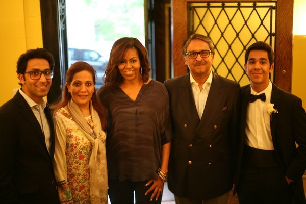 Michelle Obama at Pakistan House. — Jalil Jilani's Twitter account