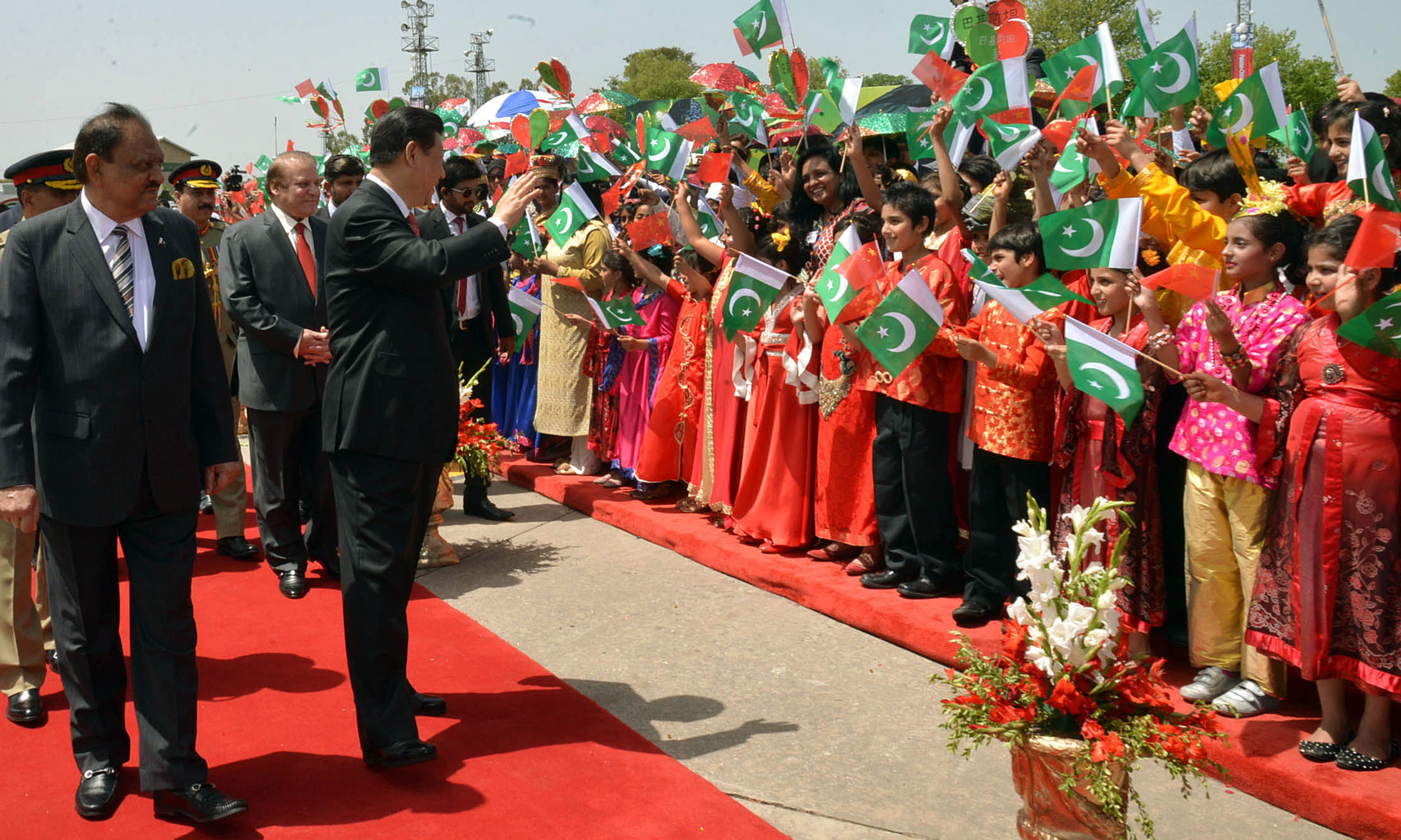 Chinese President Xi Jinping in Islamabad in 2015 | Tanveer Shehzad, White Star