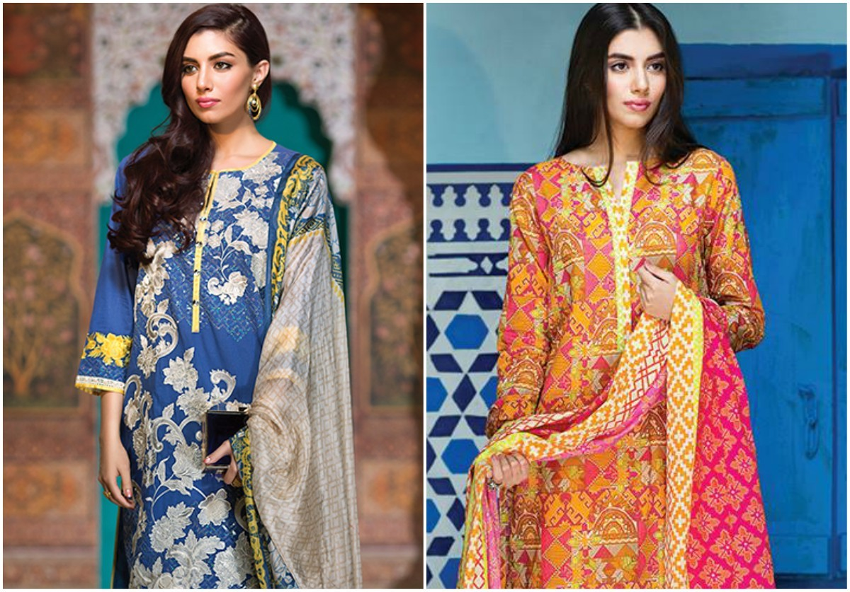 Khaadi launched its both lawn (above) and chiffon collections for Eid