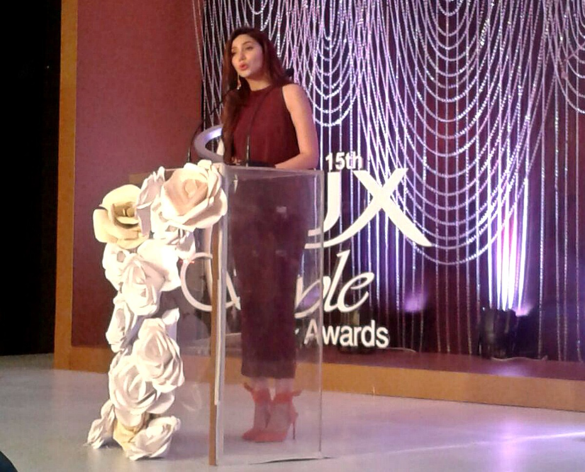 Mahirah Khan's also played host - she's been nominated for her role in Bin Roye and Sadqay Tumhare