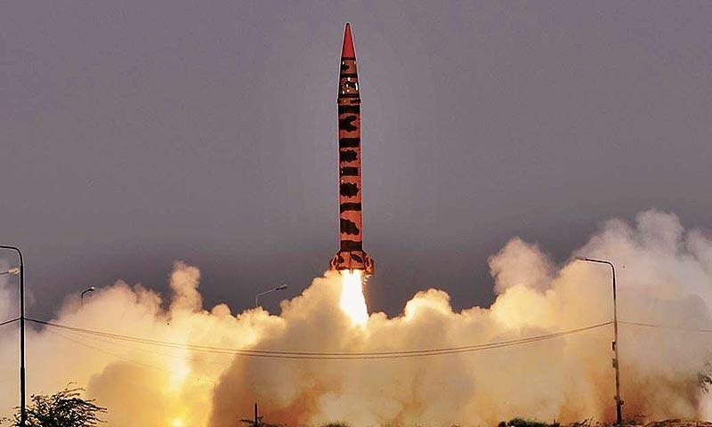 The successful test launch of intermediate range Hatf IV (Shaheen I-A) ballistic missile | File photo