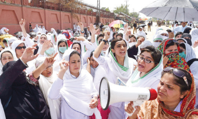 KP nursing students face rustication over participation in protest