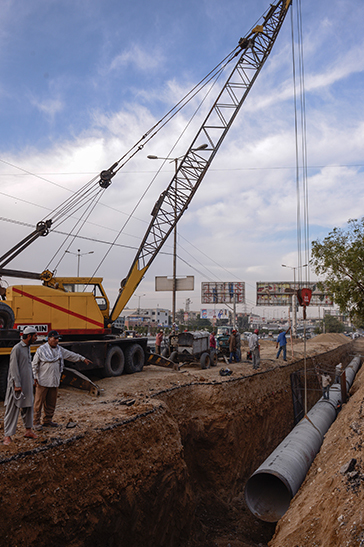 Utility relocation for a Bus Rapid Transit system in Karachi |Tahir Jamal, White Star