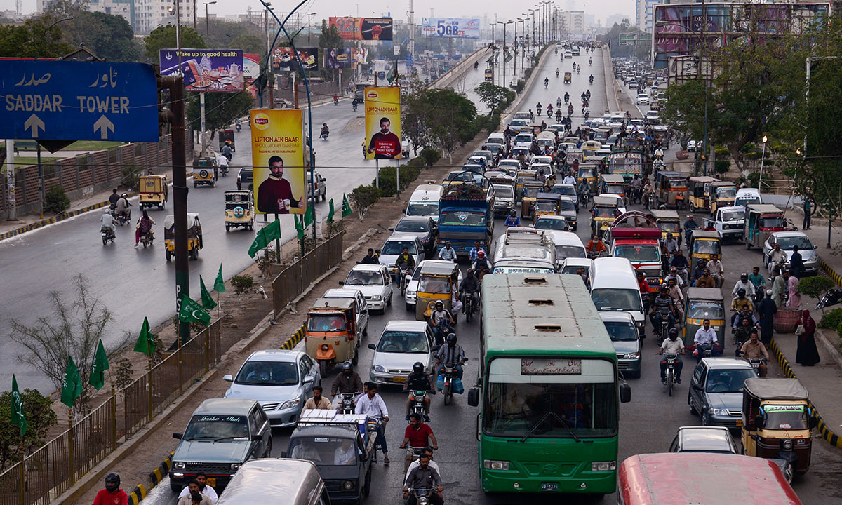 Traffic congestion near Nazimabad, Karachi | Tahir Jamal, White Star