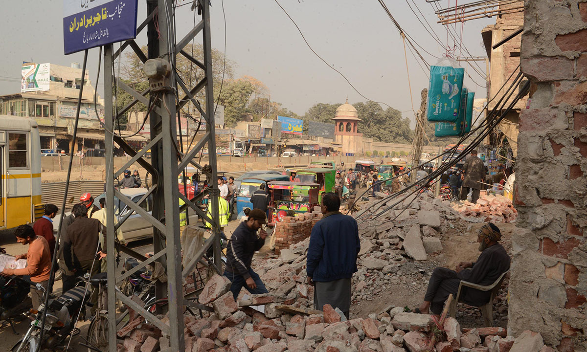 Hasan Clinic and adjacent businesses demolished for the construction of Orange  Line train station in Lahore | Azhar Jafferi, White Star