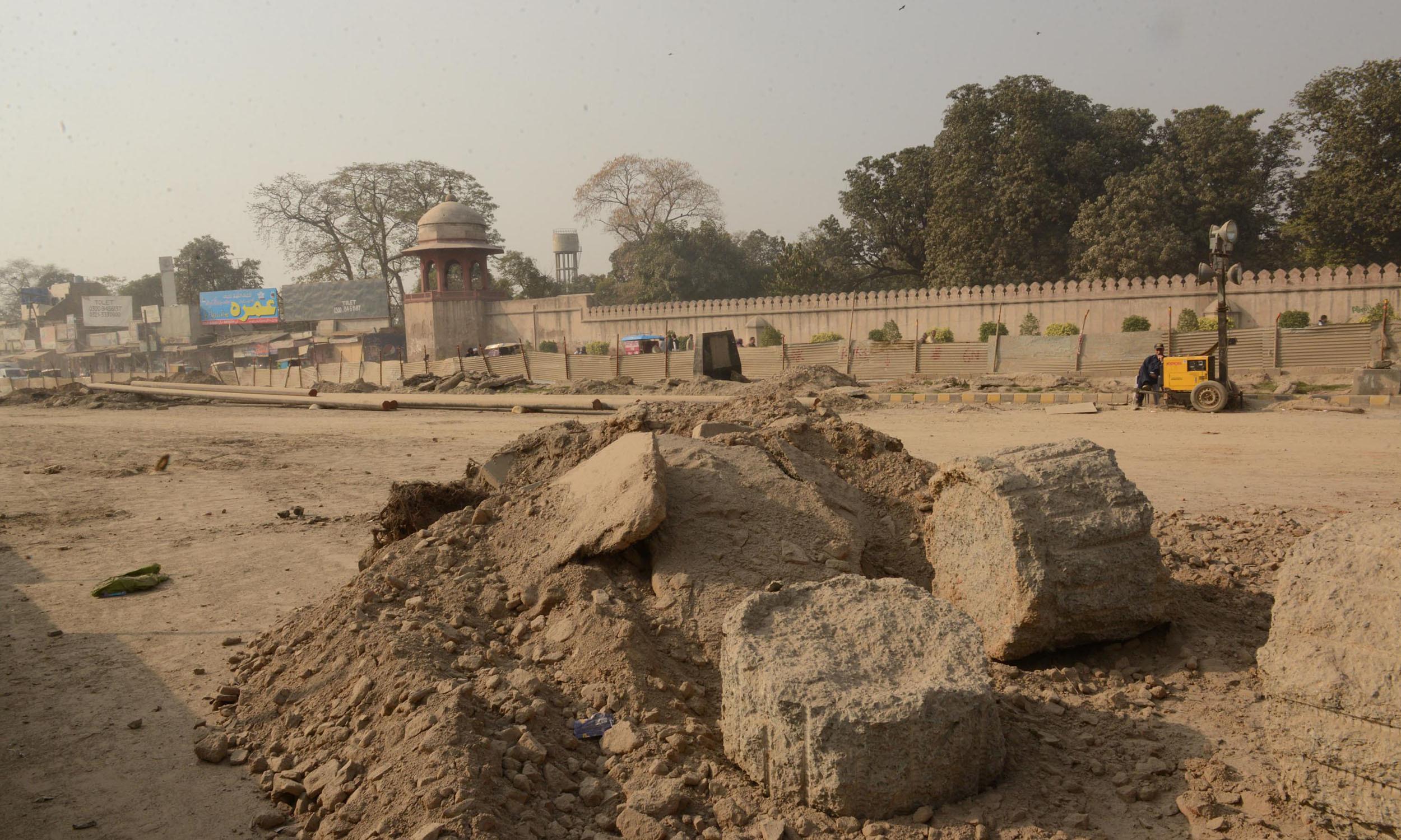 The site of a proposed Orange Line station near Shalimar Gardens | Azhar Jafferi, White Star