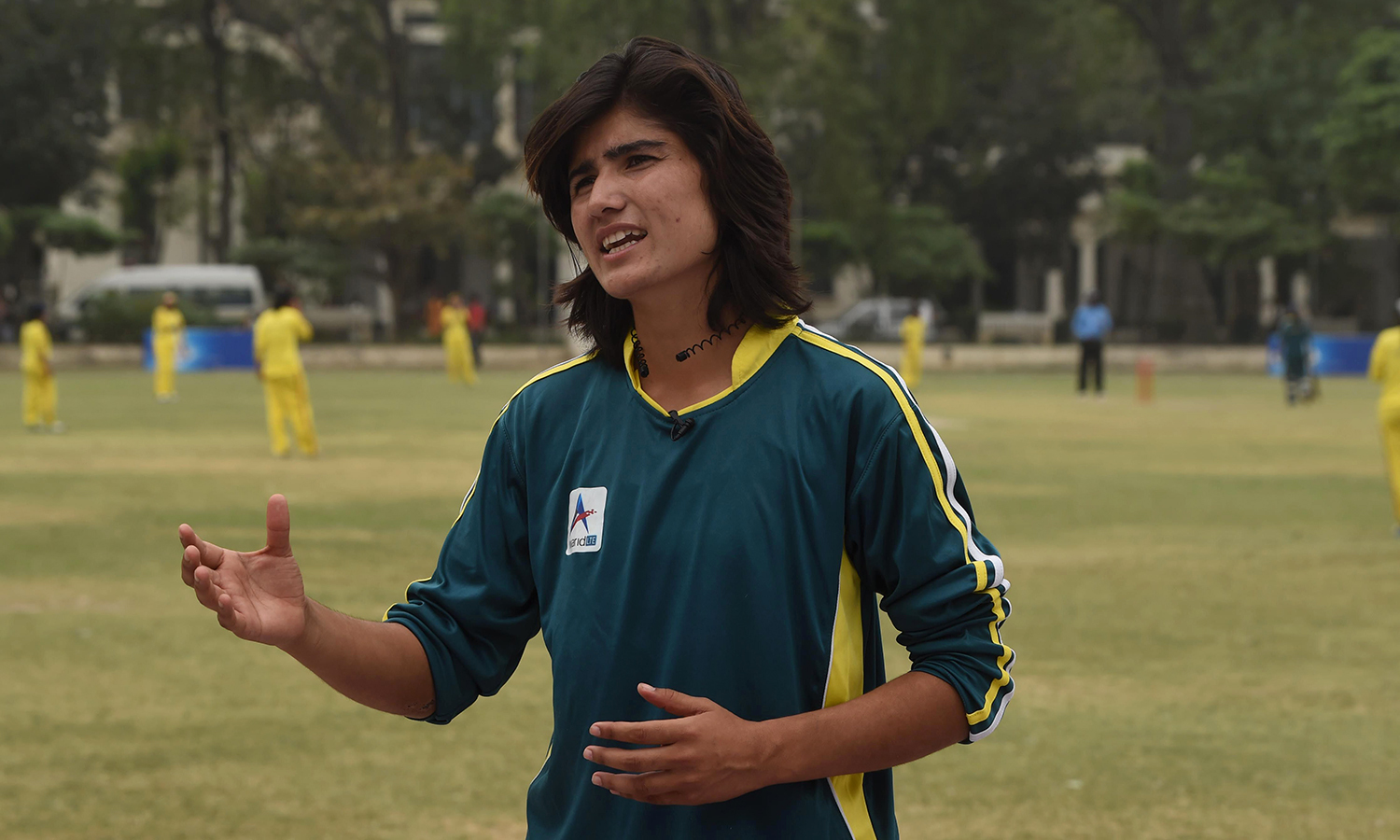 dual role diana baig s life as s cricket and football i national cricket and football player diana baig gestures as she speaks during an interview in