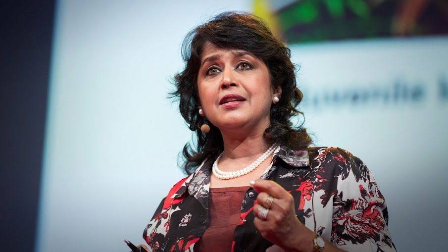 Ameenah is the first woman elected President of the country —Photo courtesy: Gurib-Fakim's Twitter account