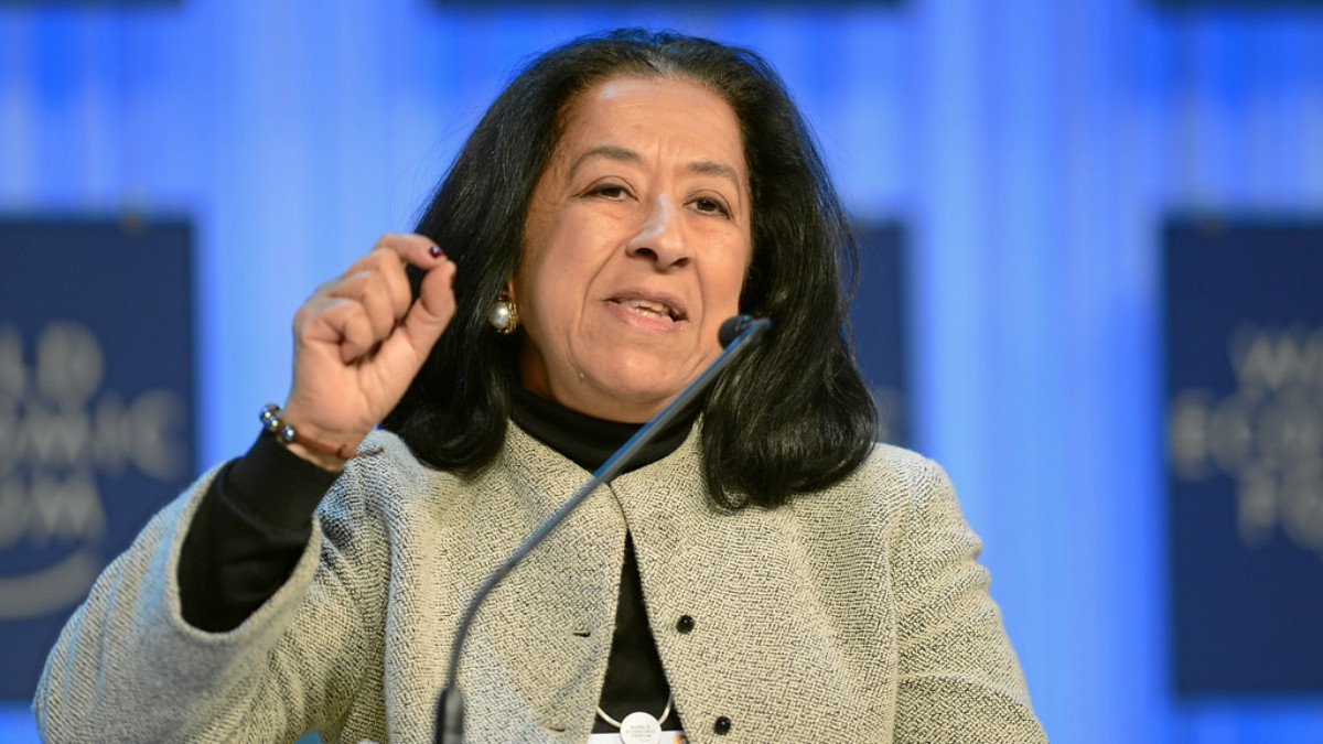 Lubna at the World Economic Forum in 2013 —Photo courtesy: Flickr