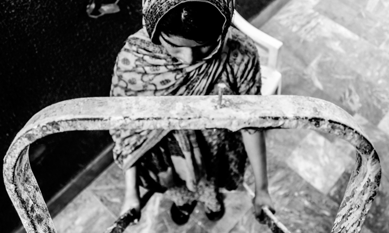 Snapshots of children at work -Photo by Shameen Khan