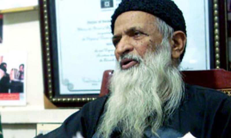 Ailing Edhi declines Zardari's offer of treatment abroad