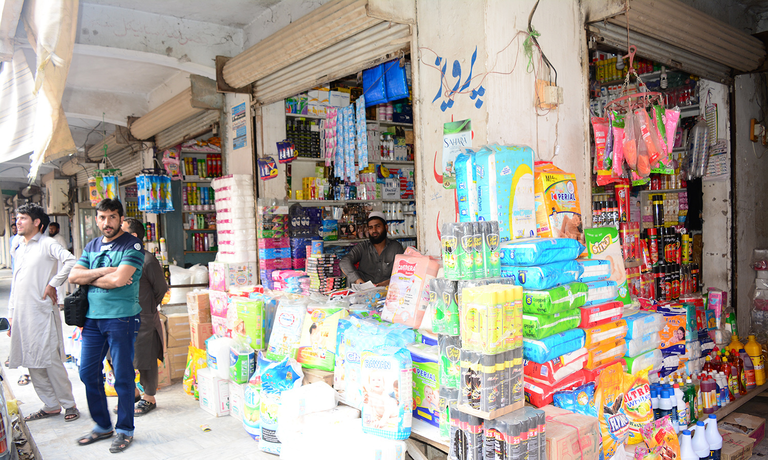Smuggled goods are sold openly at Karkhano market.