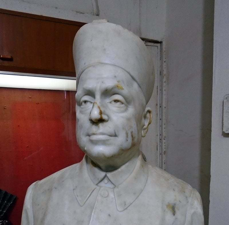 The statue at the Sindh University's Sindhology Department in Jamshoro. —Photo by Sarmad Soomro