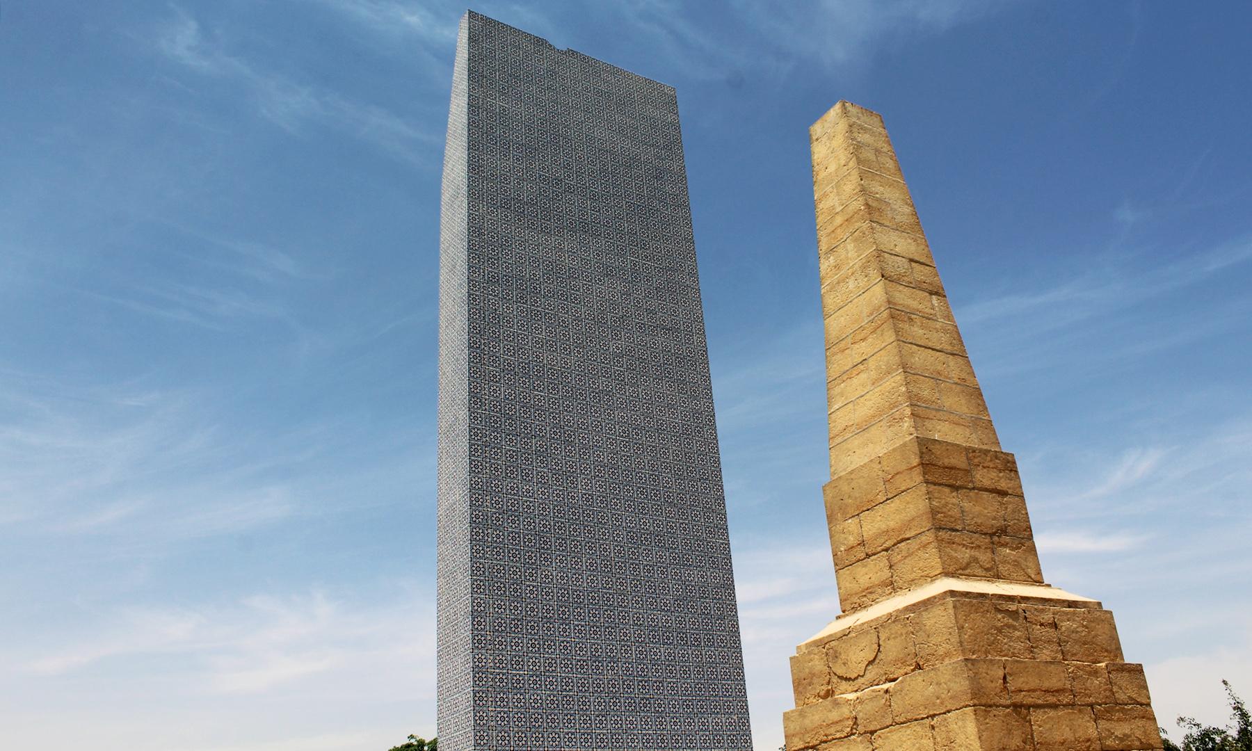 اس میدان جنگ میں انگریز اور تالپور سپاہیوں کی یاد گاریں موجود ہیں — تصویر اختر حفیظ