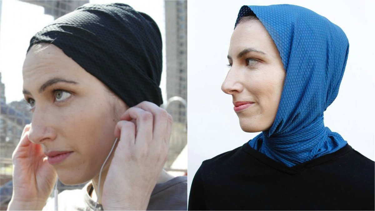 The Up-Do Hijab (L) and The Classic Hijab (R)