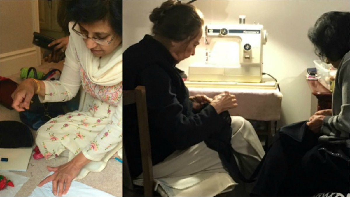 Who can sew better than grandmother, right?