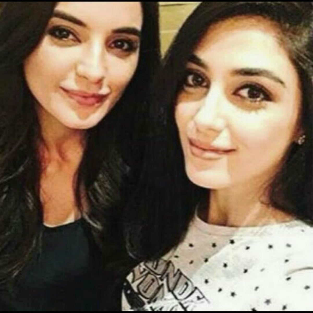 And of course she took a selfie with her maybe co-star Sadia Khan!