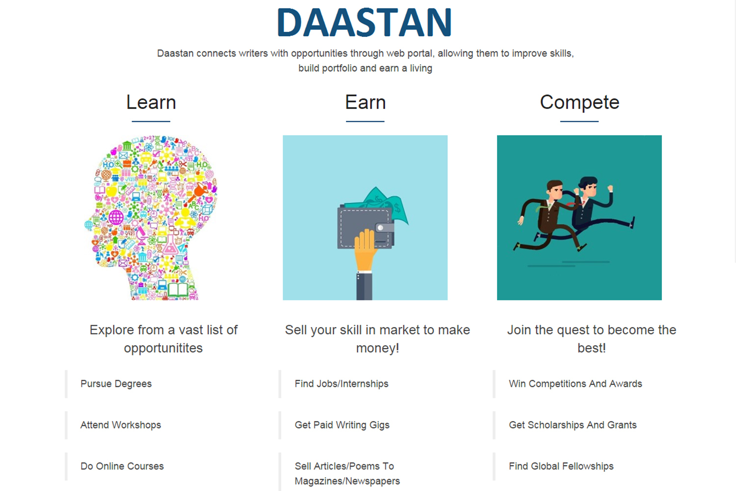 Daastan takes a wholistic approach to starting a writing career