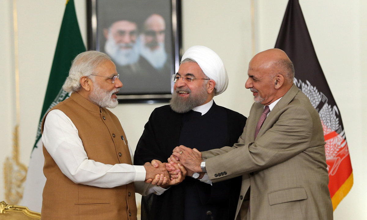 India, Afghanistan and Iran signed a major trade deal on May 23, which will create a strategic port in Iran to connect the country's oil with India's energy-hungry market   AFP