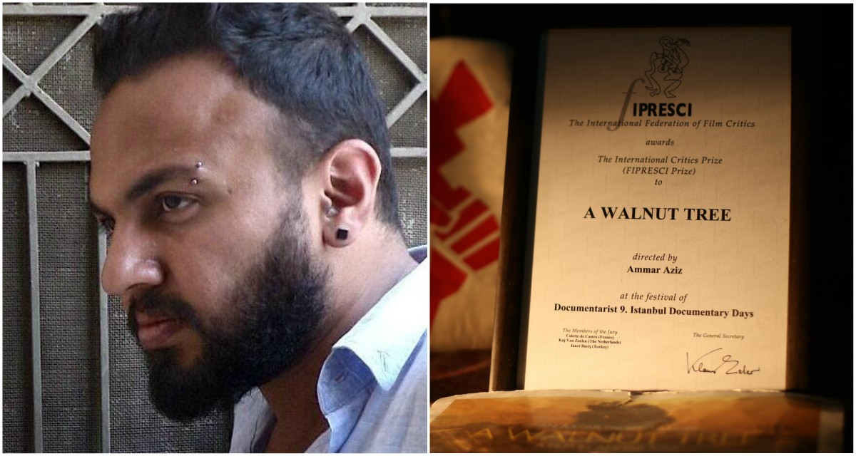 Ammar Aziz is the third Pakistani recipient of the FIPRESCI Prize for his debut documentary feature A Walnut Tree