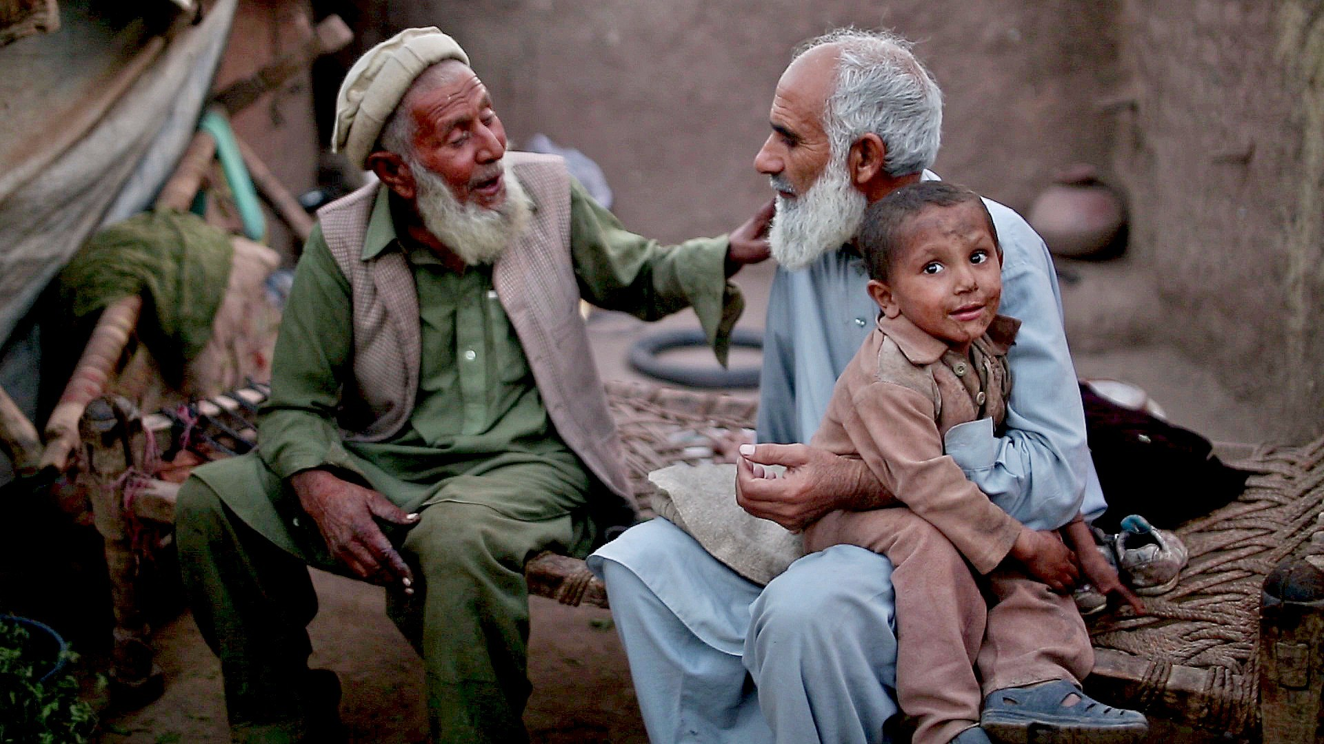 The documentary's protagonist is Baba, a refugee in Jalozai, who just wants to go home to the Tirah valley