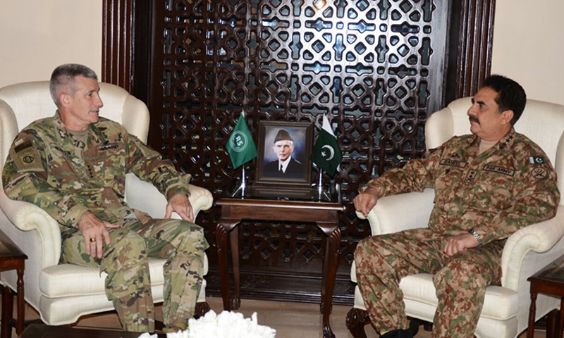 Gen Nicholson in meeting with COAS Gen Raheel. —ISPR