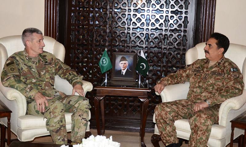 Gen Nicholson in meeting with COAS Gen Raheel. —ISPR