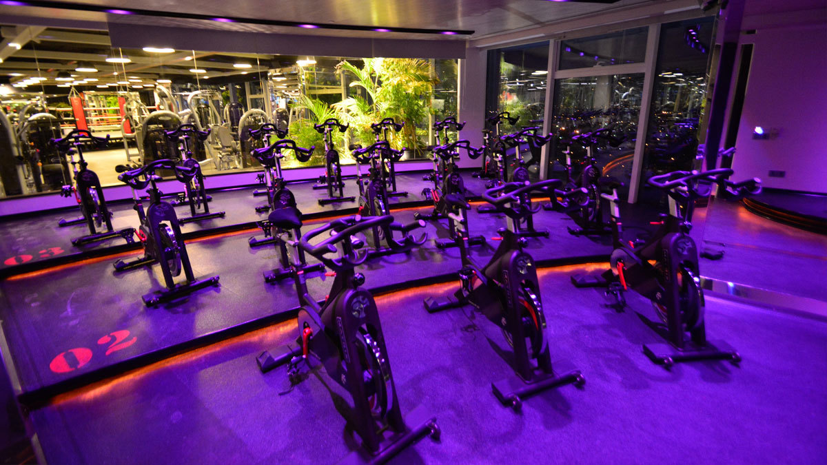 CORE indoor cycling class
