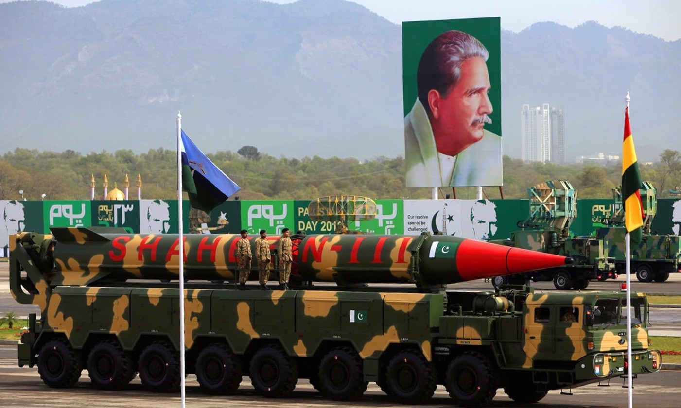 The Shaheen-III missile is displayed during the Pakistan Day parade in Islamabad, Pakistan, March 23, 2016 | Reuters