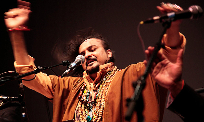 The 45-year-old qawwal was known particularly for his energy and spiritual fervour during his performances. —Photo courtesy of YouTube
