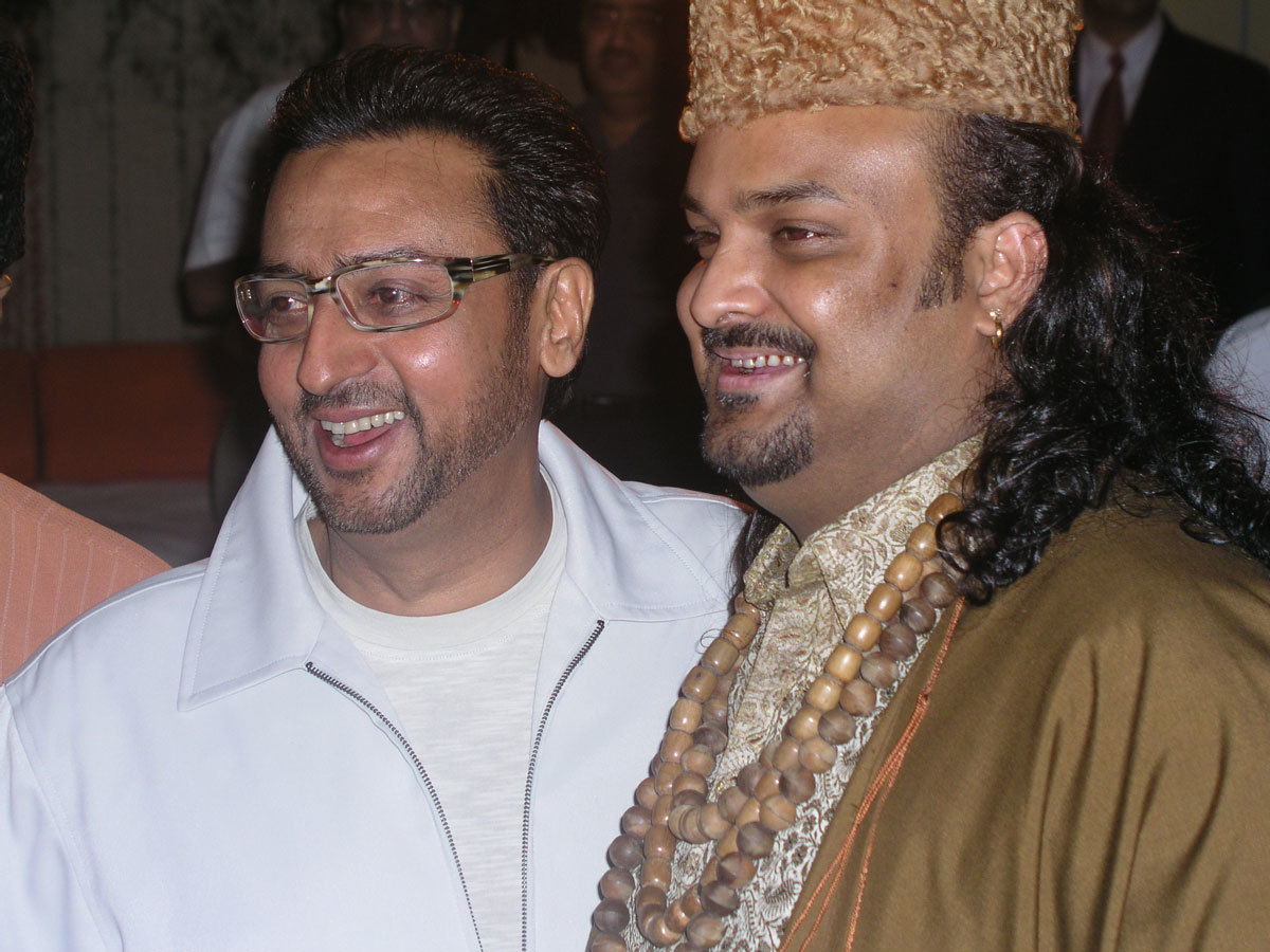 Sabri with Gulshan Grover - Photo courtesy Routes2Roots