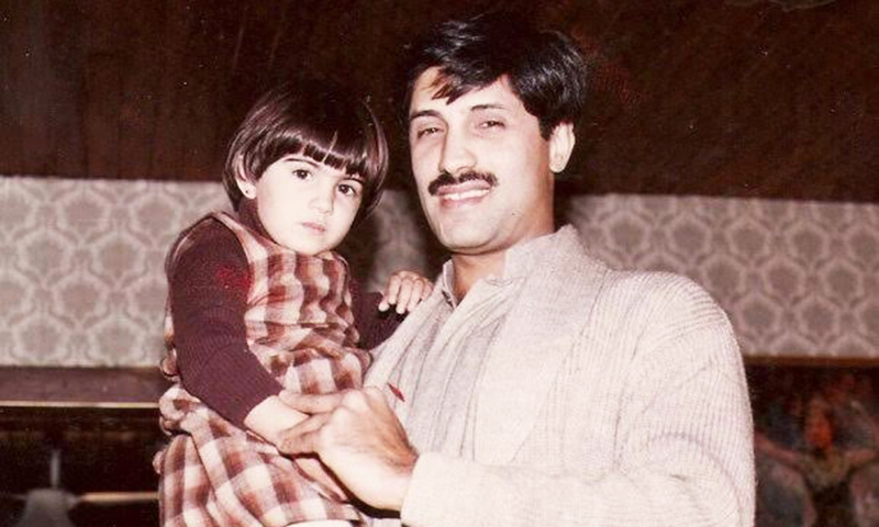 My father Omar Asghar Khan and I.